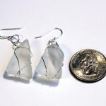 61 Rare White Sea Glass Earrings