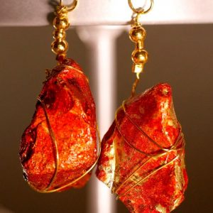 Red Sea Glass Earrings 1052