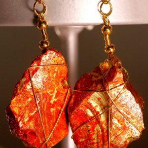 Red Sea Glass Earrings 1056