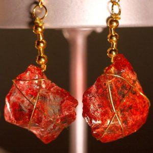 Red Sea Glass Earrings 1059