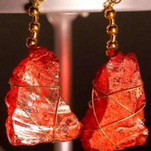 Red Sea Glass Earrings 1062